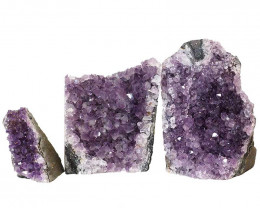 1.69kg Amethyst Crystal Geode Specimen Set 3 Pieces P374