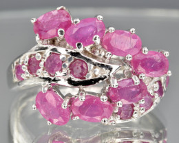 Natural Ruby and 925 Silver Ring  CH 812