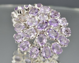 Natural Amethyst and 925 Silver Earring, Elegant Design  CH 819