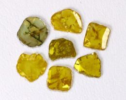 1.16Ct  Fancy Yellow Diamond Slices  CH 831