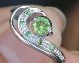 Peridot & Tsavorite Ring  CH 854