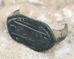 Holy Land Artifact Ring top  Relic 100-1600 AD -Code Ch 910