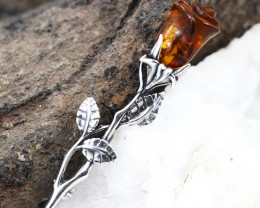 Baltic Amber Brooch, direct from Poland RN295