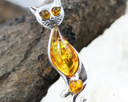 Baltic Amber Brooch, direct from Poland RN310