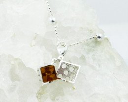 Baltic Amber Dice  Charm , direct from Poland RN395