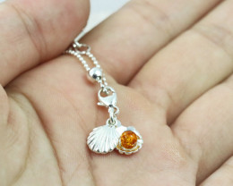 Baltic Amber Charm , direct from Poland RN423