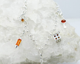 Baltic Amber Bracelet, with charms direct from Poland RN444