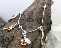 Baltic Amber Bracelet, with charms ,direct from Poland RN446