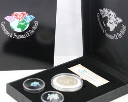 AUSTRALIAN TREASURES -Iconic 50 Cent Coin & Opals   code AAT8