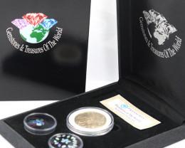 AUSTRALIAN TREASURES -Iconic 50 Cent Coin & Opals   code AAT7