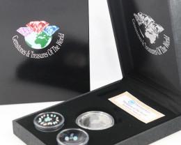 AUSTRALIAN TREASURES -Koala Silver Coin & Opals   code AAT3