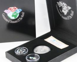 AUSTRALIAN TREASURES -Koala Silver Coin & Opals   code AAT1