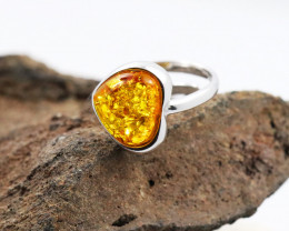 Baltic Amber Ring, direct from Poland size M   code RN474