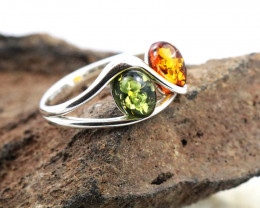 Baltic Amber Ring, direct from Poland SIZE 9 RN509