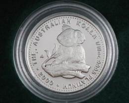 Perth Mint 99.95% platinum 1/10 th 2000  Proof Coin code co 949