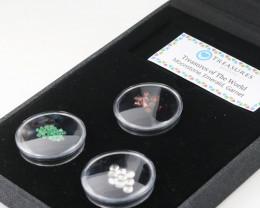 Treasures of the world ,Three natural Gemstones   code AAT38