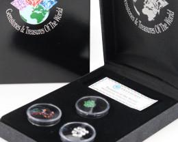 Treasures of the world ,Three natural Gemstones   code AAT22
