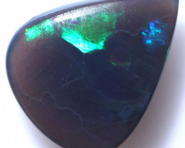 2.95Cts   large Australian Black Opal ,Flasy fire CCC 959