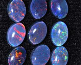 8.25Cts   parcel of 9   Australian  Triplet   Opals  CCC 1010