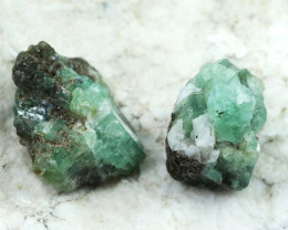 93 cts two Swat Emerald specimens  Ch 955