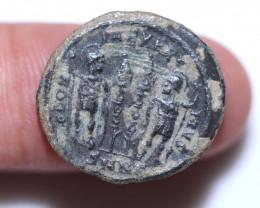 Original as found, Ancient Roman  constantine 11  coin CCC 1075