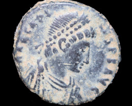 Original as found, Ancient Roman  Arcadius coin CCC 1077