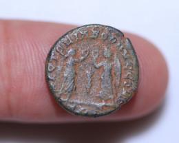 Original as found, Ancient  Roman  Constans coin CCC 1074