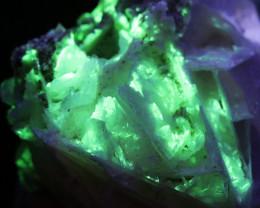 3.270  kilo Fluorescent Minerals -Mexican Slice Calcite specimen MM 130