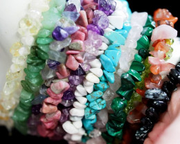 12 Beautiful Natural Gemstone bracelets PPP 1314