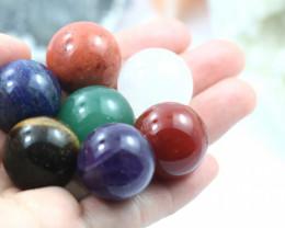 Travellers Bag Seven Chakra  20 mm  Sphere  Gemstones  AHA 153