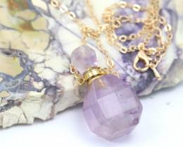 Natural Amethyst Gemstone Bottle Necklace AHA 179