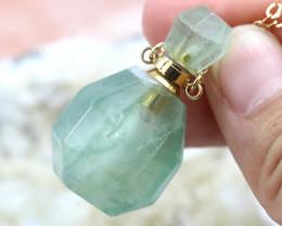 Natural Aventurine  Gemstone Bottle Necklace AHA 190