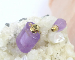 Natural Amethyst  Gemstone Bottle  AHA 202