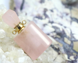 Natural Rose Quartz  Gemstone Bottle  AHA 209