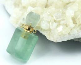 Natural Green Flourite   Gemstone Bottle  AHA 211