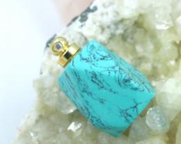 Turquoise  Faceted Gemstone Perfume  Bottle  AHA 252