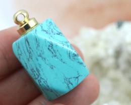 Turquoise  Faceted Gemstone Perfume  Bottle  AHA 253