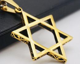 Pentagon Pendant  -Gold plated Titanium code CCC 1330
