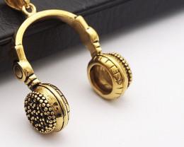 Head Phoness Pendant  -Gold plated Titanium code CCC 1332