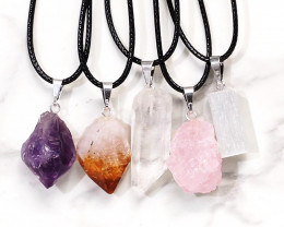 Rough Crystal Pendant Set 5