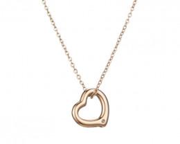 Delicate Lovers Heart Copper  plated Titanium  Pendant code CCC 1374