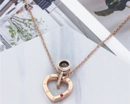 HEART-Delicate Copper  plated Titanium  Pendant code CCC 1389