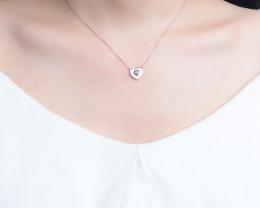 LOVE- Cute Modern 925 Sterling Silver Pendant & chain CCC 1411