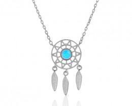 Dream  Catcher- Cute Modern 925 Sterling Silver Pendant & chain CCC 1415