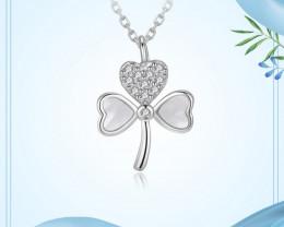Cute Modern 925 Sterling Silver Pendant & chain CCC 1418