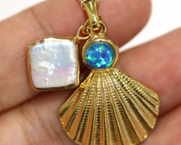 Aussie Sea Collection -Fresh water pearl & Opal pendant CCC 1466