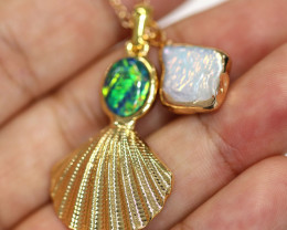Aussie Sea Collection -Fresh water pearl & Opal pendant CCC 1469