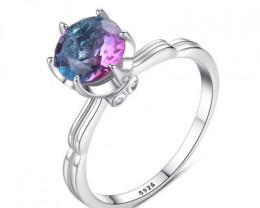Silver 925 Quailty Amethyst Hues  Fashion Ring size N  code CCC 1482