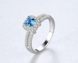 Silver 925 Quailty Sapphire blue Fashion Ring size N  code CCC 1502
