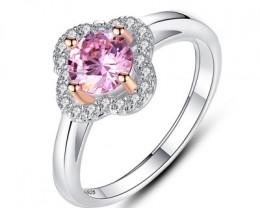 Silver 925 Quailty Pink topaz Fashion Ring size N  code CCC 1507